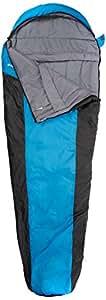 10T Outdoor Equipment, Sacco a pelo Yukon 175, Blu (Blau), 215 x 85 x 55 cm