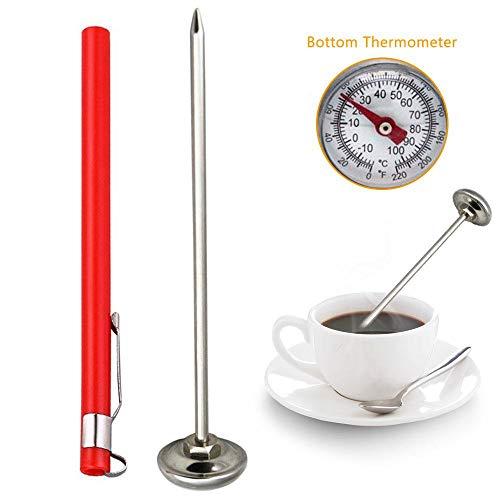 TEEPAO Elektrisches Fleisch-Thermometer, Fleisch sofort ablesbar, Thermometer mit lebensmittelechtem Edelstahl, Lange Sonde, digitales Lebensmittel-Thermometer für Öl, Frittieren, Grill, Smoker, Ofen -