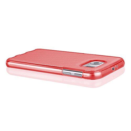Sehr elegante TPU Schutzhülle für ihr Iphone 6 mit PU-Lederrücken in Gold Rot