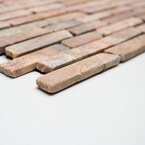 Brick-mosaik-fliesen-böden (Mosaikfliesen Fliesen Mosaik Küche Bad WC Wohnbereich Fliesenspiegel Marmor Brick Boden 8mm #409)