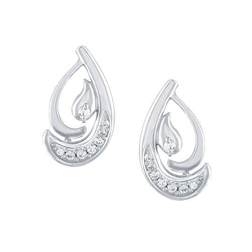 Giantti 14carats Diamant pour femme Boucles d'oreille à tige (0.0824CT, VS/Si-clarity, Gh-colour)