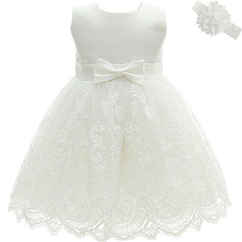 AHAHA Baby Mädchen Prinzessin Kleid Blumenmädchenkleid Taufkleid Festlich Kleid Hochzeit Partykleid Festzug Babybekleidung (Baby Mädchen Besonderen Anlass Kleid)