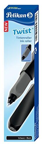 Pelikan 946962 Tintenroller Twist in Faltschachtel, universell für Rechts- und Linkshänder, schwarz