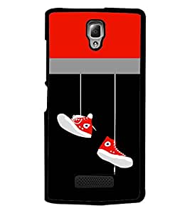 PrintDhaba Hanging Shoes D-3511 Back Case Cover for LENOVO A2010 (Multi-Coloured)