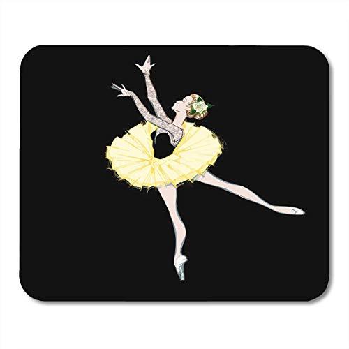 Mauspads Freie Hand Zeichnung der Ballerina Balletttänzerin