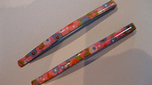 2 Pinces à cheveux fleurs colorées