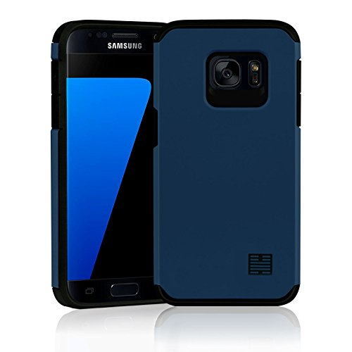 32nd slim armour series - custodia protettiva slim armour per samsung galaxy s7 case armatura sottile resistente con bordi rinforzati - ardesia blu