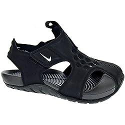 Nike Sunray Protect 2 (PS), Sandalias Punta Cerrada Unisex Niños, Negro Schwarz/Weiß, 32 EU