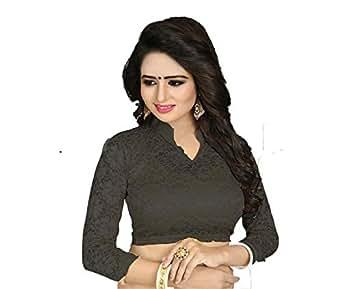 5d190c8826da7 GOGURL Women s Cotton Lycra Stitched Stretchable Blouse (Black  28 ...