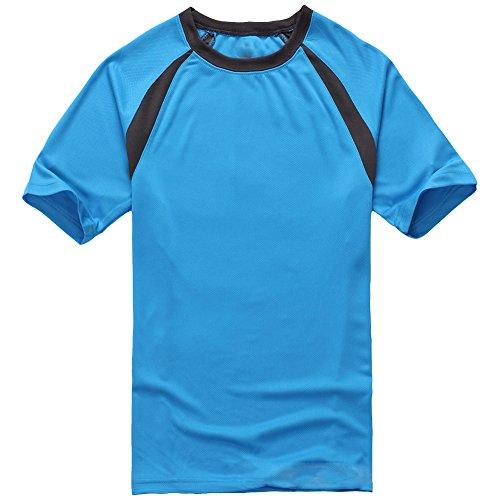 Molly Uomini Manica Corta Essiccamento Rapido Traspirante T Shirt Gemma Blu S