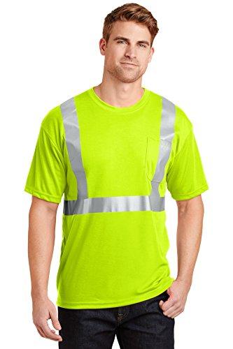 Ansi Class 2 T-shirt (CornerStone® - ANSI 107 Class 2 Safety T-Shirt. CS401 Safety Yellow/ Reflective)