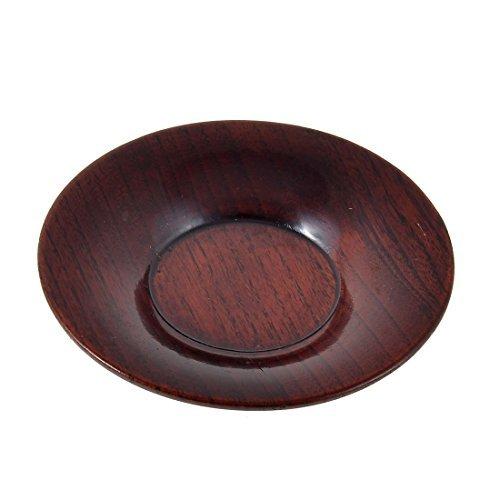 DealMux Holz runde Cup Flasche Heat Resistant Matte Coaster Pad Burgundy Burgundy Heat