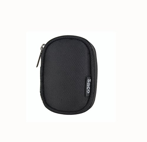 Saco Multi-Purpose Pocket Storage Travel Organizer Holder with keeper keychain manager tangle Carry Case Pouch for Philips GoGear MiniDot Mini 2GB Sound-Dot Portable MP3 Player– (Black)  available at amazon for Rs.180