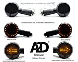 A2D Bike Retro Style LED SMD Turn Indicators with Brake Light Feature Yellow & RED Set of 2 for Bajaj V15