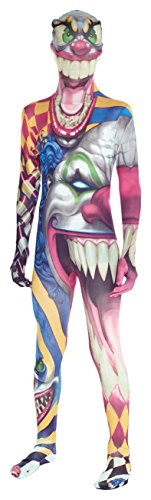 Clown Kids Monster Morphsuit Faschingskostüm - Small 3'1-3'6 (94cm-107 cm)