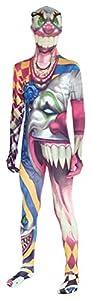 Morphsuits, Disfraz infantil Monstruo payaso, multicolor, 6-8 años/S