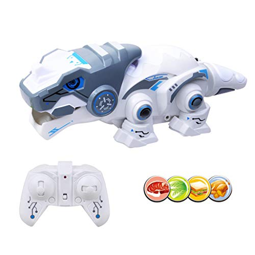 tic Toys, 12shage Fernbedienung Robotic Dinosaurier mit Teleskopzunge Elektronische Haustiere Spielzeug Können Dinge Essen Funktion Lustiges Spielzeug Geschenk für Jungen Mädchen ()