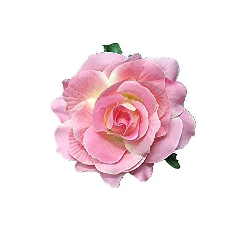 HENGSONG Elegante Damen Accessoires Haarblumen Haarblüte Haarspange Haarschmuck Rose Broschen Ansteckblume viele Farben (Rosa)