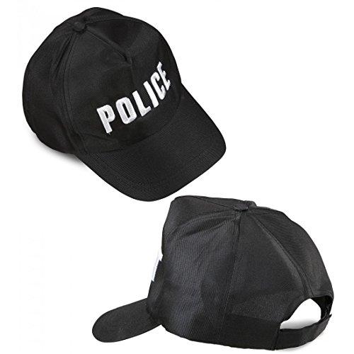 Widmann 03606 Polizei Cap, verstellbar für Erwachsene, schwarz