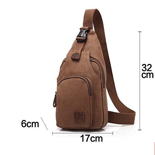 Leinwand Männer-Brust-Tasche/Diagonale lässige Herren Einzel Schulter Brust Pack/Die koreanische Version von Herren-Mode-Rucksack-B B
