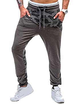 Zhhlaixing Ropa de deporte Mens Camouflage Cotton Slim Fit Trouser Pants Breathable Sportswear