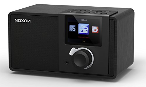 Noxon iRadio 1  Internetradio (TFT Farbdisplay, WLAN, Line-Out, Fernbedienung, Netzteil) Schwarz/schwarz