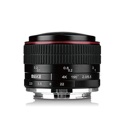 Meike MK 6,5 mm Kreisförmige F/2.0 Objektiv Fisheye für mirorrless Fuji X-Mount Kameras