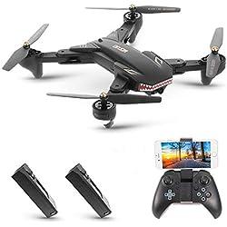 Goolsky VISUO XS809S Drone 2.0MP Grand Angle Caméra Wifi FPV Pliable Drone Une Clé Retour Altitude Maintenir G-capteur Quadcopter avec Une Batteries Supplémentaires