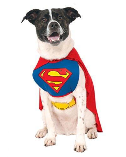Horror-Shop Superman Hundekostüm S