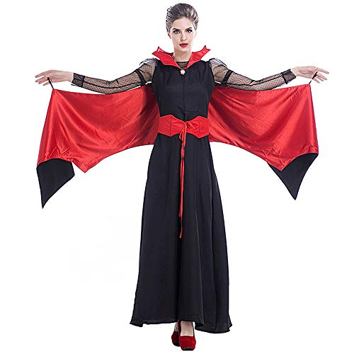 ZQ Ostern weibliche Vampir Hexe Teufel Kleid Kostüm, Halloween Makeup Cosplay Queen Dance Kleid,L (Ballerina Halloween Make-up Für)