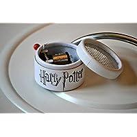 Caja de música blanca con la melodía Hedwig´s Theme interpretada en la película de Harry Potter. El regalo perfecto para los fans. Manivela de música manual.