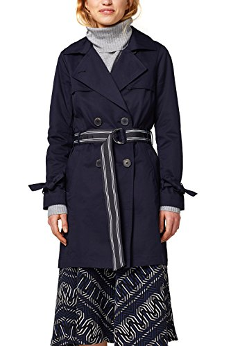 edc by ESPRIT Damen Mantel 018CC1G014, Blau (Navy 400), Medium