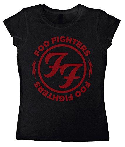 Foo Fighters Logo Red Circle Girl-Shirt schwarz Schwarz
