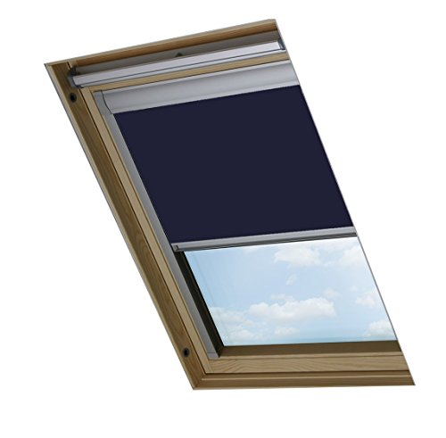 Bloc skylight m04 velux-tenda oscurante per finestre, colore: blu navy, 603mm x 730mm