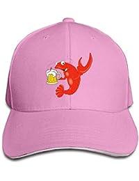 Hipiyoled Cangrejo Cerveza Sándwich Cap Snapback Caps Sombrero de béisbol  Ajustable Gorra Lisa Perfil bajo para 3dc89eccc15