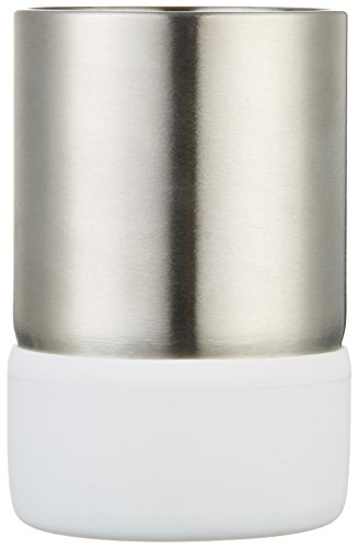 Amazonbasics - bicchiere in acciaio inox, bianco