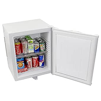 ChillQuiet Silent Mini Fridge 24ltr White - Completely Quiet Mini Bar, Ideal for Hotels and B&Bs