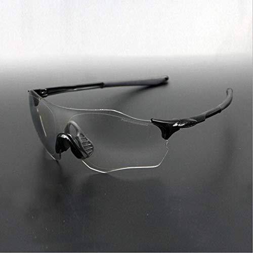 MOOMDDY Allwetter Farbe Wechselnde Linse Läuft Fahrrad Brille Sonnenbrille,Black