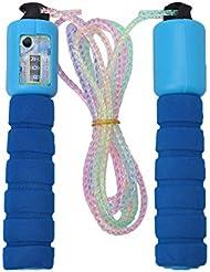 VGEBY Corda per Saltare Regolabile,Corda di Salto della Velocità del PVC con Maniglia Antiscivolo in Gomma Molle ( Colore : Blu )