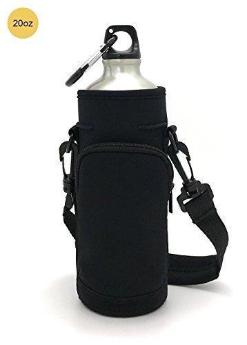 Wommty 20 Oz Aaislamiento de Neopreno de Botella de Agua Enfriador de Botellas Portador Cubierta de Manga Bolsa de Transporte Funda Mangas con Correas Ajustables para Escalada Corriendo y Ciclismo Actividades al Aire Libre, 20 Oz