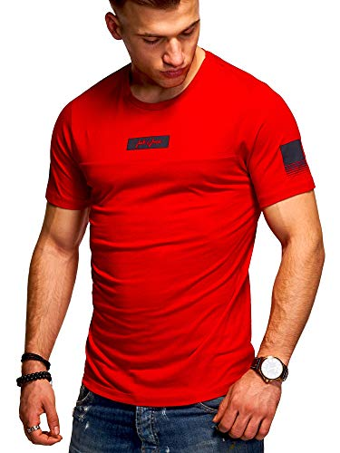 JACK & JONES Herren T-Shirt O-Neck Print Shirt (XL, Tango Red) - Red Jack
