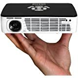 AAXA P300 DLP LED Pico/Micro Projector with 60 Minute Battery Life, 400 Lumens, WXGA 1280 x 800 Resolution, Media Player, HDMI, 15000 Hour LED Life