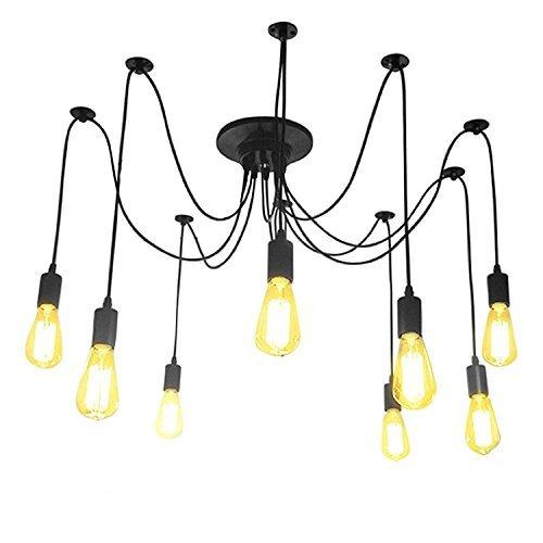 Lightess Lámpara Vintage Lámpara Industrial Lámpara de Vendimia Lá