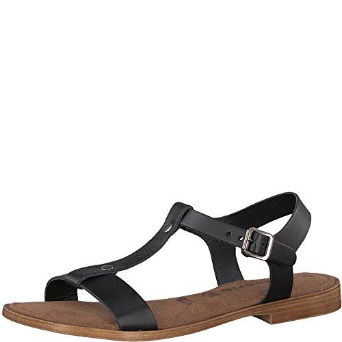 Tamaris 1-1-28149-20 Damen Sandale, Sandalette, Sommerschuhe für die modebewusste Frau schwarz (Black Uni), EU 37