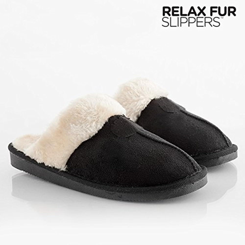 Paar Hausschuhe gefüllt Farbe – Braun Größe der Schuhe – 39