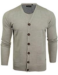 dacbc63938ad Mens Brave Soul Ghazali Knitted Jumper Button Through Cardigan