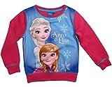Frozen - Die Eiskönigin Disney Pullover Mädchen Anna und ELSA (Fuchsia, 128)