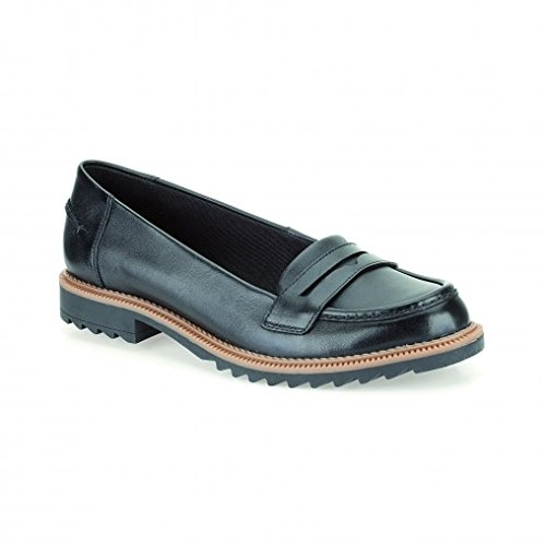 clarks-womens-loafer-flats-shoes-griffin-milly-black-leather-black-8-uk-d