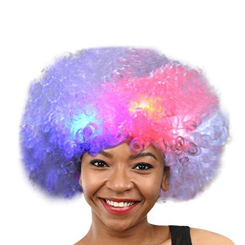 Flash Clown Haar Kopfschmuck Prop Explosion Kopf Verkleiden Sich Party Disco Lustige Afro Fußball Fan Kinder Erwachsene Funny Maskerade Haar Perücke ()
