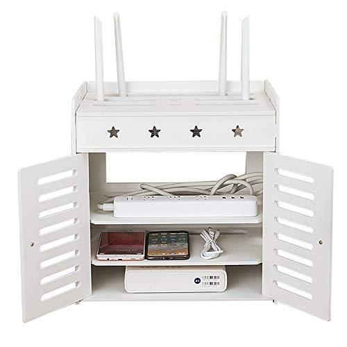 Top-komponente Regal (DEWUFAFA Wandfräser-Regal, Hauptschlafzimmer, Wohnzimmer-Tischplattenlinie Management-Kasten - Wand-freier Durchschlag 31CM / 36CM (Size : 31CM))